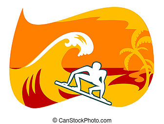 Surfing in Bali - This is the logo of club surfing in Bali