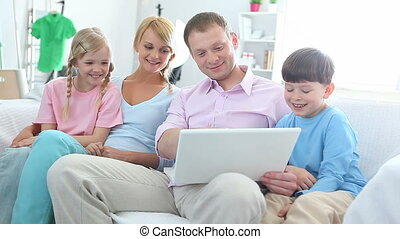 Surfing internet with kids
