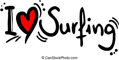Surfing love - Creative design of surfing love