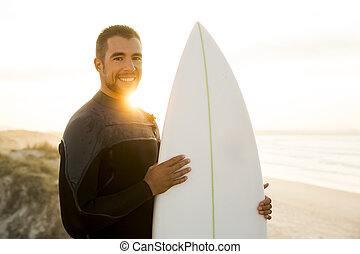 Surfing makes me smile