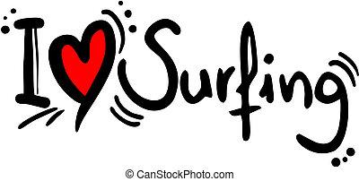 surfing, miłość
