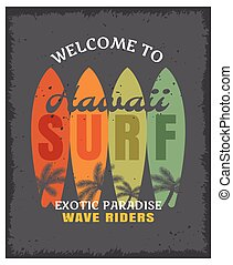 Surfing Print Or Poster - Surfing print or poster with four...