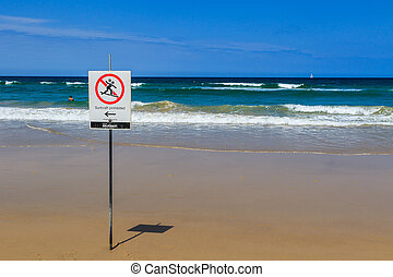 Surfing Prohibited