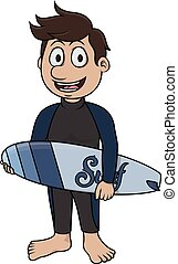 Surfing sport - Cartoon