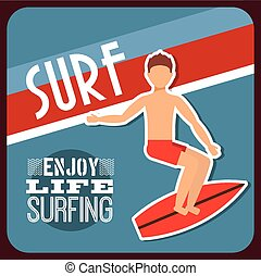 surfing sport design, vector illustration eps10 graphic