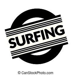 surfing stamp on white