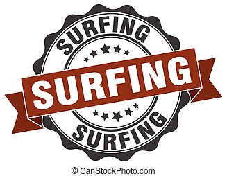 surfing stamp. sign. seal