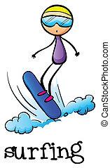 surfing, stickman