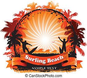 surfing, tło