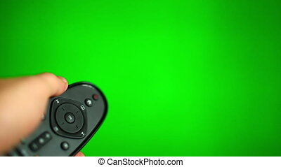 Surfing television channels green screen HD