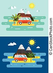 Surfing Trip Banners