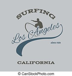 surfing typography, t-shirt graphics, vectors