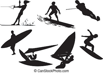 surfing vector silhouette