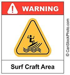 surfing zone graphic design , vector illustration