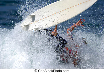 surfista, competiton, durante, macho, wipes, saída