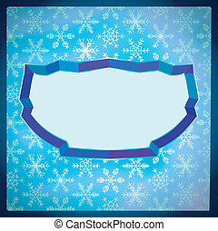 surgelé, cadre, flocons neige