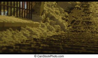 surgelé, escalier, hiver, nuit