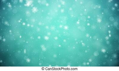 surgelé, fond, hiver
