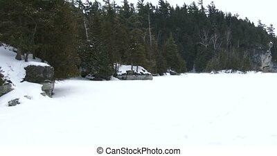 surgelé, parc, lac, canadien