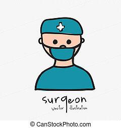 surgeon design over white background vector illustration