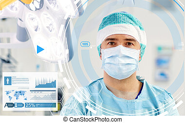 surgeon in operating room at hospital