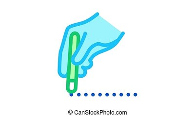 surgeon marks site of incision Icon Animation. color surgeon marks site of incision animated icon on white background