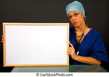 Surgeon with board