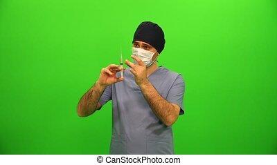 Surgeon With Needle