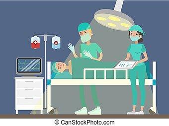 Surgery at hospital.