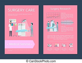 Surgery Care Medical Service Vector Illustration