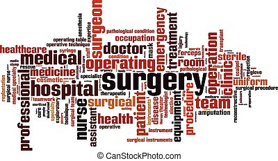 Surgery [Converted].eps - Surgery word cloud concept. Vector...