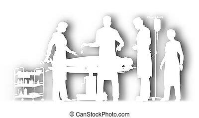 Surgery cutout - Editable vector cutout illustration of...
