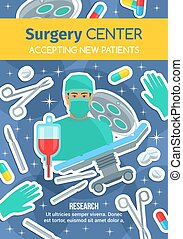 Surgery hospital center medical advertisement