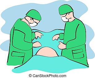 surgery - surgeons at work
