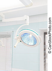 surgical lamp in dental operating room