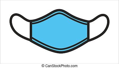 Surgical mask for protection from viruses, respirator icon...