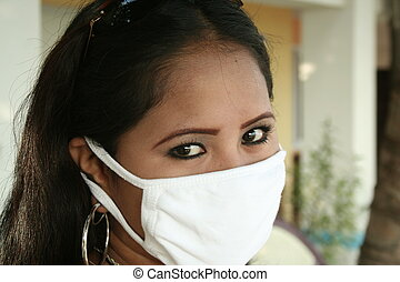 surgical mask ii - a filipina with a surgical mask