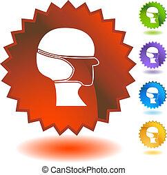 Surgical mask Starburst Icon Set