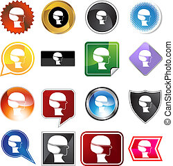 Surgical mask Variety Icon Set