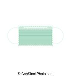 Surgical mask, Wuhan Virus or Coronavirus related vector illustration