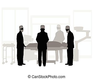 Surgical operation - Vector illustration of a surgical...