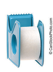 Surgical Tape Isolated - Isolated macro image of a surgical...
