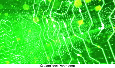 """""""Surging Inside Green Circuit Board. Loopable."""" - """"A..."""