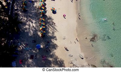 Surin Beach, Phuket. Aerial view from flying drone, Thailand