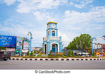 Surin circle in Phuket town, Phuket Thailand