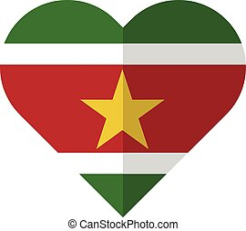 Surinam flat waving flag
