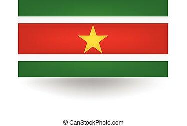 Suriname Flag - Official flag of Suriname.