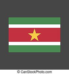 Suriname flag illustration - Suriname flag on the gray...