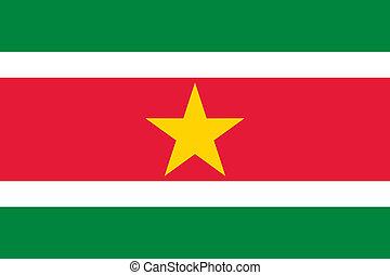 Suriname flag - Vector Suriname national flag