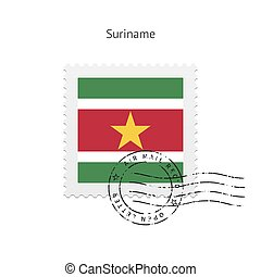 Suriname Flag Postage Stamp. - Suriname Flag Postage Stamp...